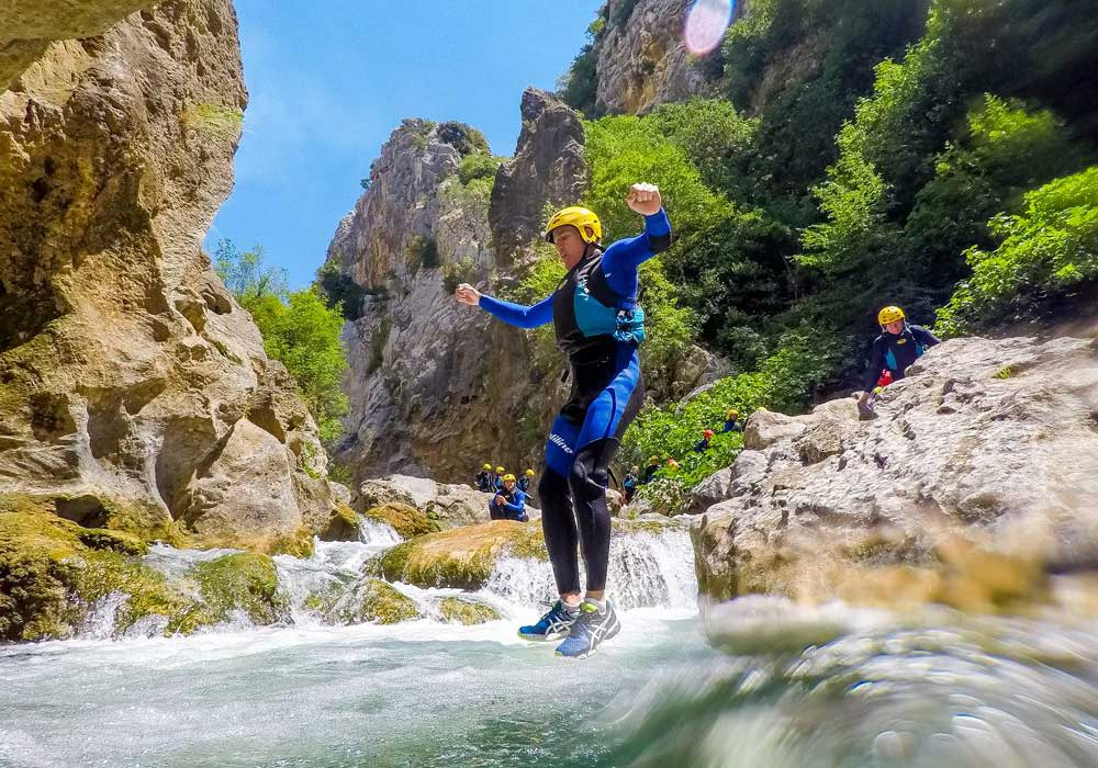 Canyoning day tours for a family