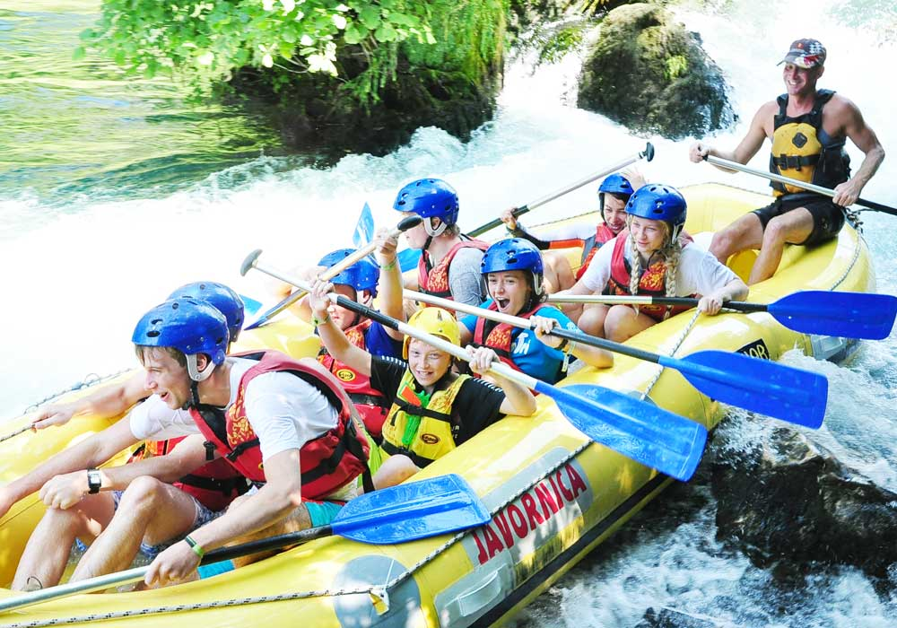 Croatia family white water rafting day tours to book