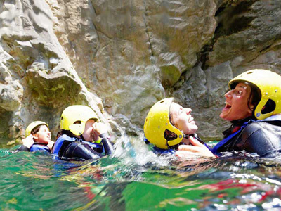 join a canyoning tour whilst in Croatia