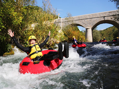 family river tubbing tours in Croatia