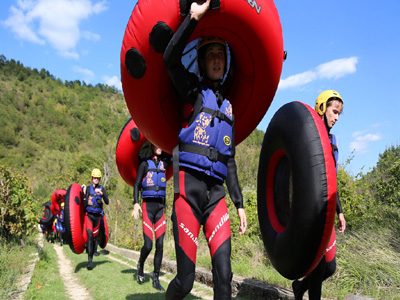 River rafting on tubes for family adventure holidays in Croatia