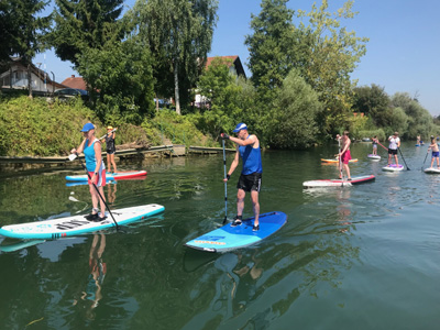 Try SUP boarding in Slovenia