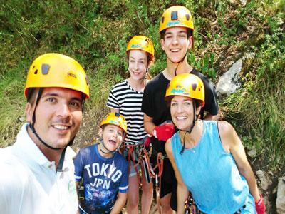 family climbing day excursion