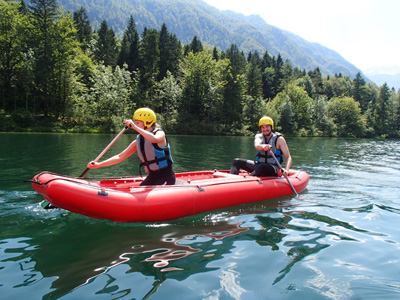 try active holidays in Slovenia and rafting