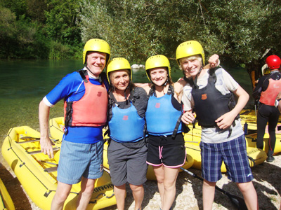 family active water rafting in Slovenia